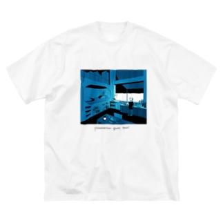 midnight coffee Big silhouette T-shirts