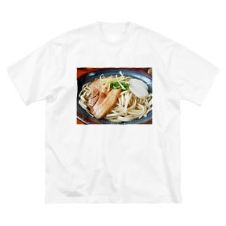 ソーキそば Big silhouette T-shirts