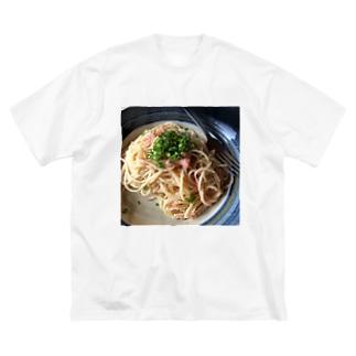 たらこスパゲティ Big silhouette T-shirts