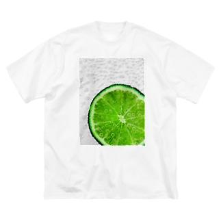 しゅわしゅわライム Big silhouette T-shirts