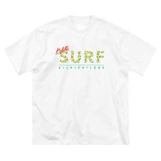 ネットサーフ(うねうね) Big silhouette T-shirts