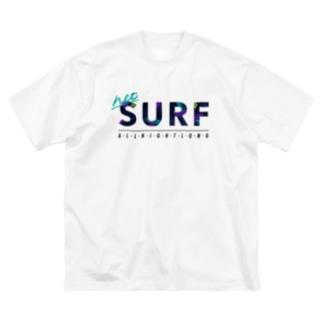 ネットサーフ(絵の具) Big silhouette T-shirts