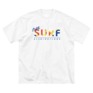 ネットサーフ(曲線) Big silhouette T-shirts