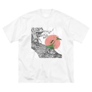 色を灯す蟻 Big silhouette T-shirts