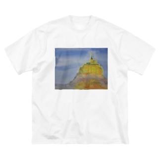 モンサンミッシェル Big silhouette T-shirts