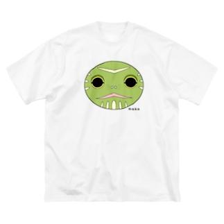 亀の顔です Big silhouette T-shirts