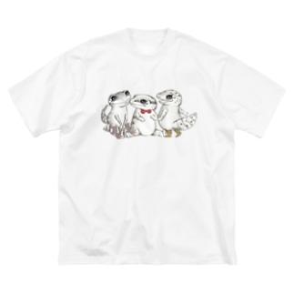 Reptiles MIKAERU  Big silhouette T-shirts