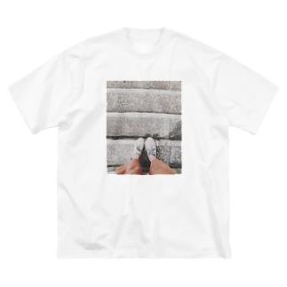 アシモト Big silhouette T-shirts