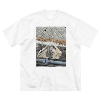 溶ケタ紙 Big silhouette T-shirts