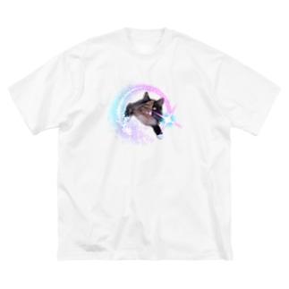 キラキラメルルーサ夢子 Big silhouette T-shirts