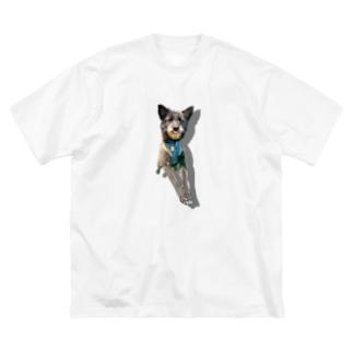 うちのいぬ Big silhouette T-shirts