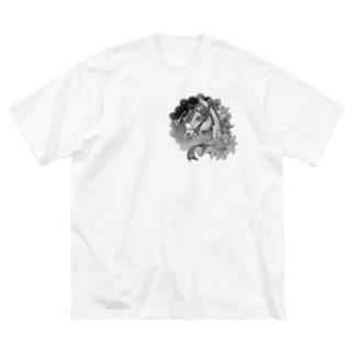 メルテドルツェモノクロ Big silhouette T-shirts