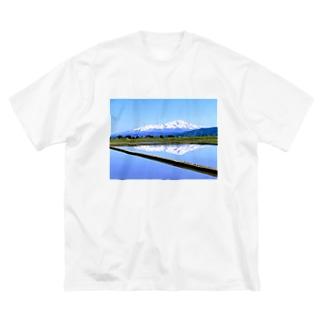 YAMA Big silhouette T-shirts
