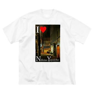 I love NY アイラブNY 中野区 弥生町 Big silhouette T-shirts
