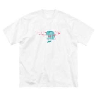 涙 Big silhouette T-shirts