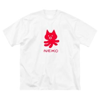 NEKO TAKO Big silhouette T-shirts