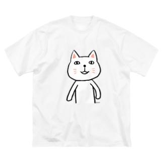 にゃーんさん Big silhouette T-shirts