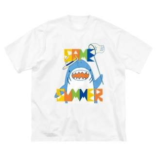 背ナシSAME_SUMMER Big silhouette T-shirts