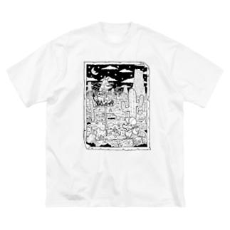 出会いと選択 Big silhouette T-shirts