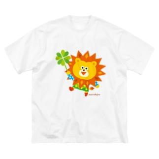 ◎◎animal らいおーん Big silhouette T-shirts