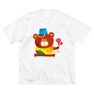 ◎◎animal くまくま Big silhouette T-shirts