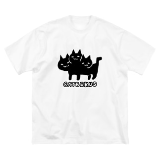 ネコベロスちゃん Big silhouette T-shirts