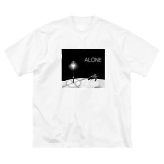 ALONE Big silhouette T-shirts