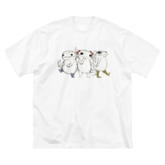 Amphibian MIKAERU Big silhouette T-shirts