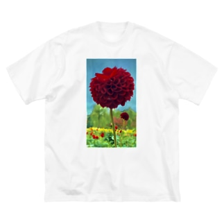 天竺牡丹 Big silhouette T-shirts
