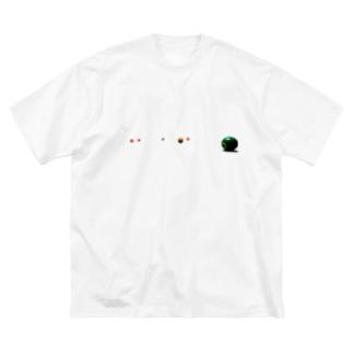 ビリヤード球 Big silhouette T-shirts