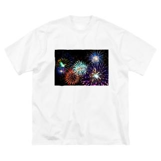 花火 Big silhouette T-shirts