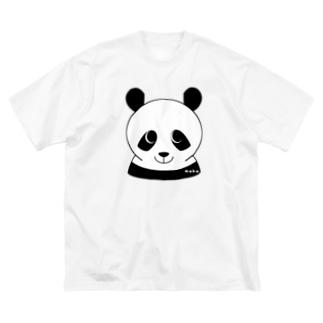 パンダです Big silhouette T-shirts