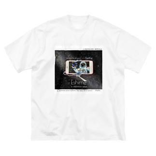 白色ver 宇宙の日常シリーズ 自撮りpart.1 Big silhouette T-shirts