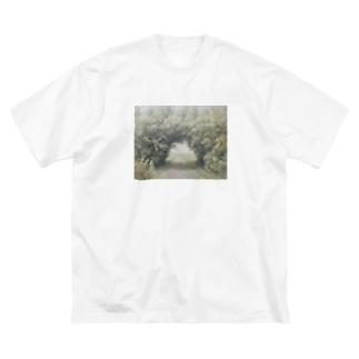 木のトンネル Big silhouette T-shirts