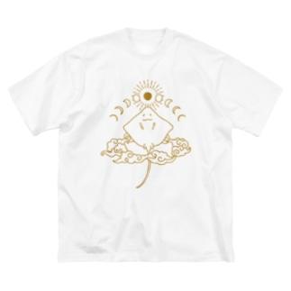 月相鱏(GOLD) Big silhouette T-shirts