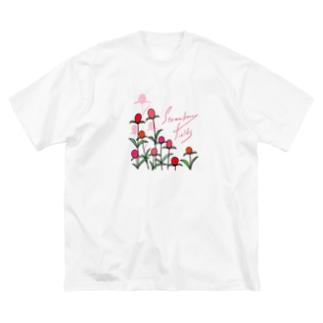 ストロベリーフィールド Big silhouette T-shirts