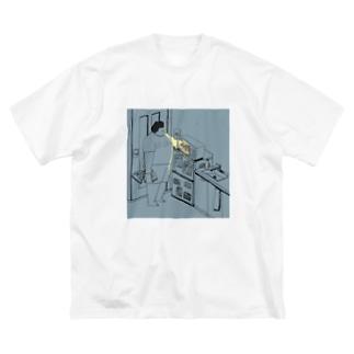 深夜二時の衝動 Big silhouette T-shirts