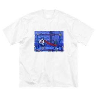 「アップリケをつけておくよ」 Big silhouette T-shirts