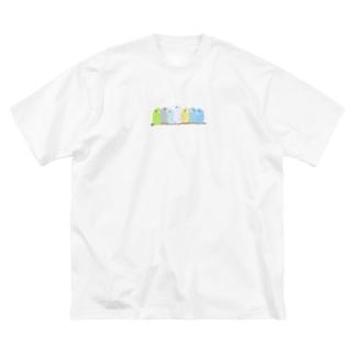 鈴なりマメルリハ Big silhouette T-shirts