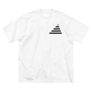 Cropping Border T(Triangle) / Black-Gray Big silhouette T-shirts