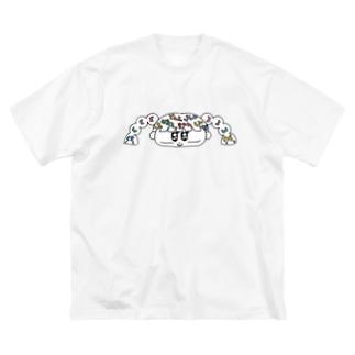 マヨマヨビッグTシャツ Big silhouette T-shirts