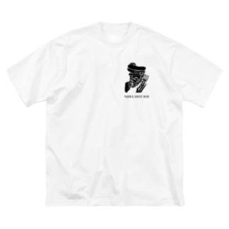 NIKKA SHOT BAR 大阪・高槻市のNIKKA SHOT BAR 黒ロゴ Big silhouette T-shirts