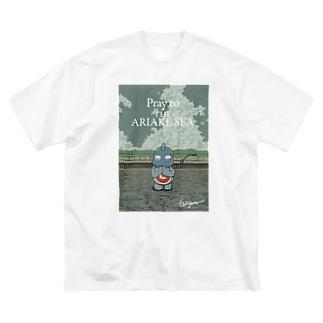有明ガタァ商会の有明海の祈り Big silhouette T-shirts