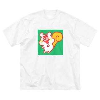 渋リッスくん Big silhouette T-shirts