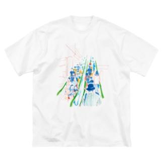 エスカレーター Big silhouette T-shirts