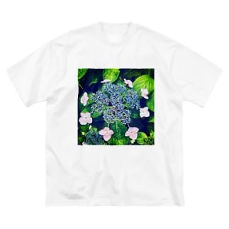 ガクアジサイ Big silhouette T-shirts