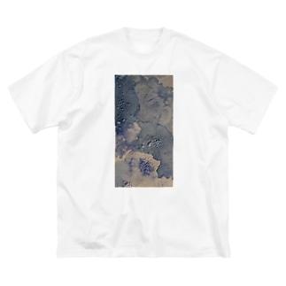 青の塩 (縦ver. Big silhouette T-shirts