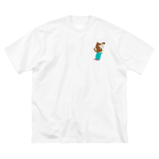 犬とわたし Big silhouette T-shirts