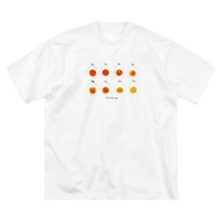 ゆで卵Time Big silhouette T-shirts
