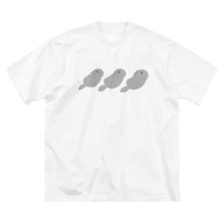 見ざラッコ 言わざラッコ 聞かざラッコ Big silhouette T-shirts